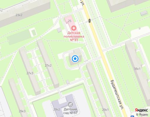 Товарищество собственников жилья «Будапештская 27/1» на карте Санкт-Петербурга