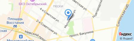 Стикми на карте Санкт-Петербурга