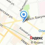 Фонд социального страхования РФ на карте Санкт-Петербурга