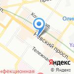 Райффайзенбанк на карте Санкт-Петербурга