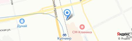 Евро-Метр на карте Санкт-Петербурга