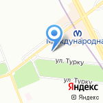 Ананас на карте Санкт-Петербурга