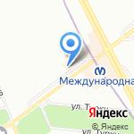 Магазин обуви и халатов на карте Санкт-Петербурга