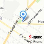 Смольнинский районный суд на карте Санкт-Петербурга