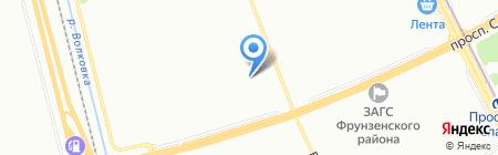 Детский сад №58 на карте Санкт-Петербурга