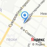 Детский сад №125 на карте Санкт-Петербурга