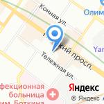 Липовский на карте Санкт-Петербурга