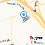 Северяночка на карте Санкт-Петербурга