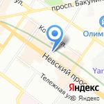 АВРОРА Хоспиталити Груп на карте Санкт-Петербурга