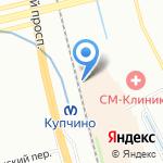 Деньга на карте Санкт-Петербурга