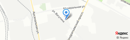 Шиномонтажная мастерская на ул. Ватутина на карте Санкт-Петербурга