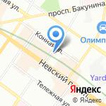 Чинаски на карте Санкт-Петербурга