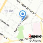 Яблочко на карте Санкт-Петербурга