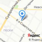 Хлеб да соль на карте Санкт-Петербурга