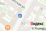 Схема проезда до компании Риони в Санкт-Петербурге