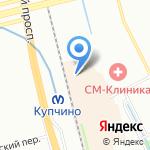 Формула Кино Балканский на карте Санкт-Петербурга