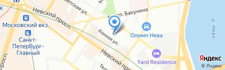 Санта на карте Санкт-Петербурга
