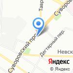 Памир на карте Санкт-Петербурга