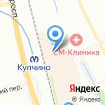 Магазин тканей и штор на карте Санкт-Петербурга