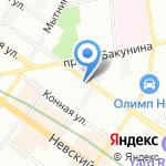 Средняя общеобразовательная школа №167 на карте Санкт-Петербурга