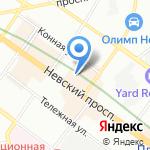 Национальный центр на карте Санкт-Петербурга