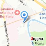 ЗИГА на карте Санкт-Петербурга