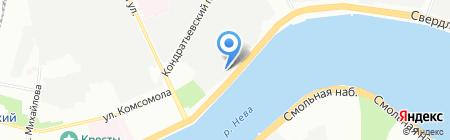 Синди на карте Санкт-Петербурга