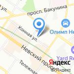 Пакстон на карте Санкт-Петербурга