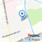 Леннедра на карте Санкт-Петербурга