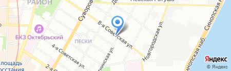 Ладоград на карте Санкт-Петербурга