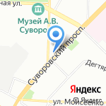 Орлан на карте Санкт-Петербурга