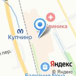 Современная Крепость на карте Санкт-Петербурга