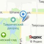 Наберли на карте Санкт-Петербурга