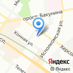 Мансарда на карте Санкт-Петербурга