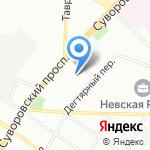 Студия татуировок Миши Тату на карте Санкт-Петербурга