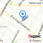 Магазин белорусских колбас на карте Санкт-Петербурга