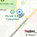 Студия татуировки Ольги Зуевой на карте Санкт-Петербурга