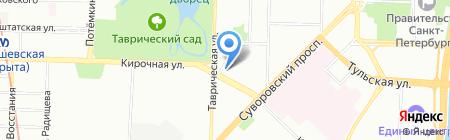 Средняя общеобразовательная школа №163 на карте Санкт-Петербурга