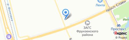 Магазин бытовой химии на карте Санкт-Петербурга