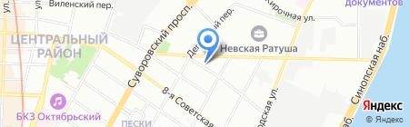 Центр Новых Квартир на карте Санкт-Петербурга