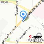 Греми на карте Санкт-Петербурга