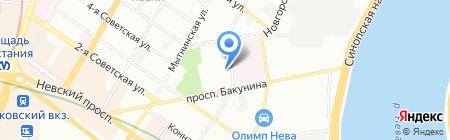 Шиномонтажная мастерская на Евгеньевской на карте Санкт-Петербурга