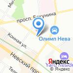 Саша Невский на карте Санкт-Петербурга