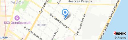 ПЕТРОБЕЛЬ на карте Санкт-Петербурга