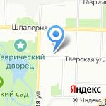 Тверская на карте Санкт-Петербурга