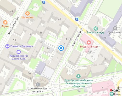 Управляющая компания «ТехКом» на карте Санкт-Петербурга