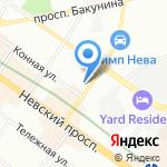Первый Элемент на карте Санкт-Петербурга