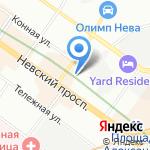 Отдел молодежной политики физической культуры и спорта Администрации Центрального района на карте Санкт-Петербурга