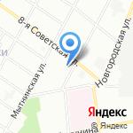 Кирилловская 6-8 на карте Санкт-Петербурга