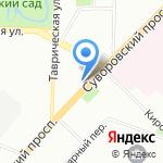 C`est La vie на карте Санкт-Петербурга